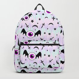 Pastel Melt Winged Eyes Backpack
