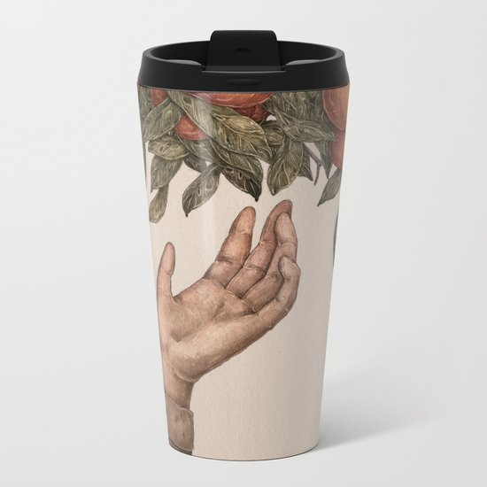 Apple Picking Metal Travel Mug