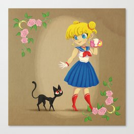 Retro Sailor Moon Canvas Print