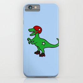 Roller Derby Velociraptor iPhone Case