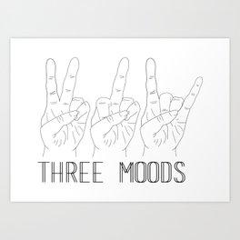 Three moods Art Print