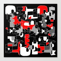 UNSOLVED PUZZLE Canvas Print