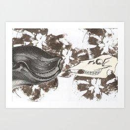 whale awhile Art Print