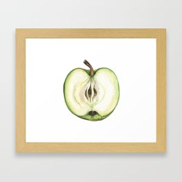 Green Apple Framed Art Print