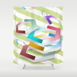 Hexagon Shower Curtain