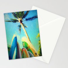 surfboards and palms Stationery Cards