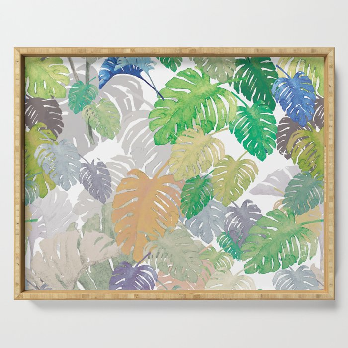 Philodendron Fantasy Serving Tray