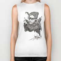 trip Biker Tanks featuring Trip! Trip! by The Cosmic Youth (Gabe daCosta)