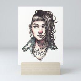 Salander - The Girl with the Dragon Tattoo Mini Art Print