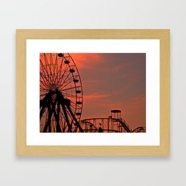 Sundown in Fun Town Framed Art Print