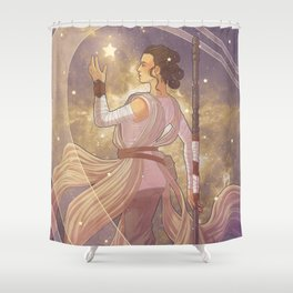 Lady of Light III Shower Curtain