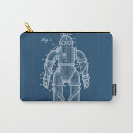 Submarine Armor Patent Blueprint 1915 Carry-All Pouch