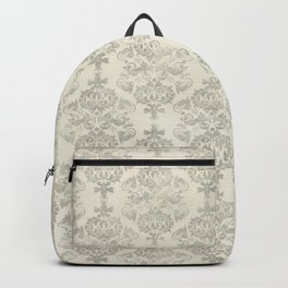 Beige Watercolor Damask Pattern Backpack