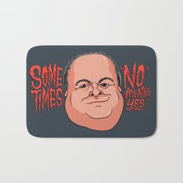 "Sometimes ""No"" Means ""Yes"" Bath Mat"