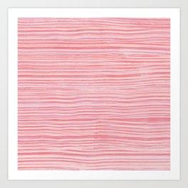 Rake Watercolor in Pink Art Print