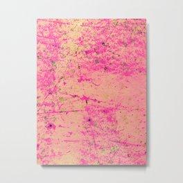 Abstract Paint Splatter - Pink Metal Print