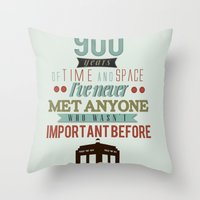 doctor who Throw Pillows featuring Doctor Who by Ashley