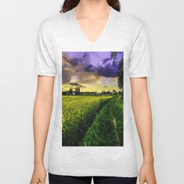 Rapeseed Sunset Unisex V-Neck