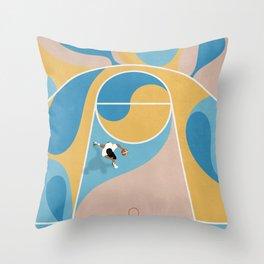 Shoot Hoops | Street Basketball  Throw Pillow