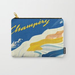 Vintage Champery Switzerland Travel Carry-All Pouch