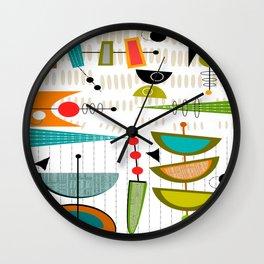 Mid-Century Modern Abstract Atomic Art Wall Clock