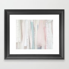 the dresses Framed Art Print
