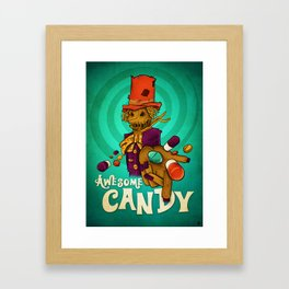 Awesome candy Framed Art Print