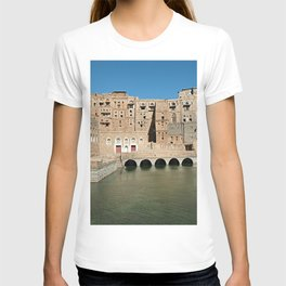 Ancient Water Cistern Traditional Brick Buildings, Hababah, Yemen T-shirt