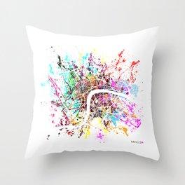 London map splash Throw Pillow