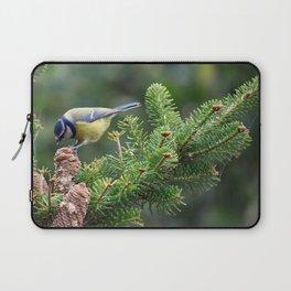 Blue Tit  (Cyanistes caeruleus) Laptop Sleeve