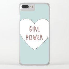 Girl power heart illustration - Girl Gang Prints Clear iPhone Case