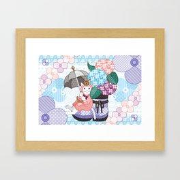 """Hydrangea and snail"" Framed Art Print"