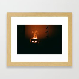 Suburban Tiki Framed Art Print