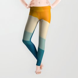 Abstract landscape art Leggings