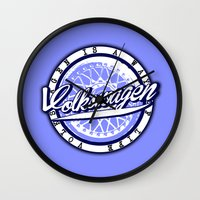 volkswagen Wall Clocks featuring Volkswagen  by Barbo's Art