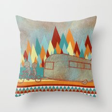 Airstreaming Throw Pillow