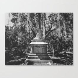 Bonaventure Cemetery Statue Canvas Print