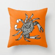 Fall Crab Throw Pillow