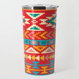 Red Native Aztec Travel Mug