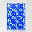 Blue Floral And Turtles Hawaiian Pattern by chrismacdonaldstudios