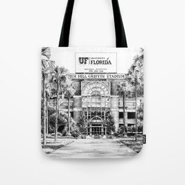 Ben Hill Griffin Stadium (North Facade) Tote Bag