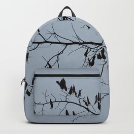 Bare branches silhouette in November Backpack