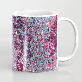 Vintage Boho Burgundy Mandala Coffee Mug