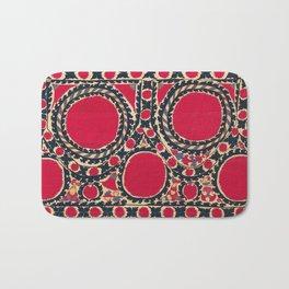 Tashkent Uzbekistan Central Asian Suzani Embroidery Print Bath Mat