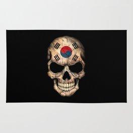 Dark Skull with Flag of South Korea Rug