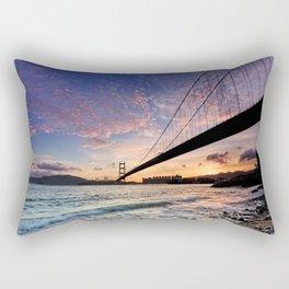 Sunset Bridge Rectangular Pillow