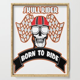 The Awesome & Cool Rider Tshirt BORN TO RIDE Serving Tray