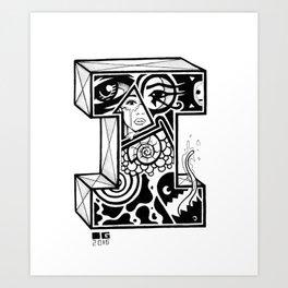 The Letter I Art Print