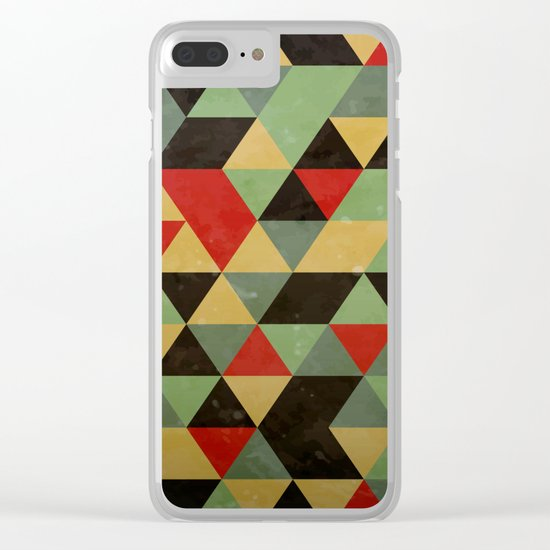 Retro Pattern Clear iPhone Case