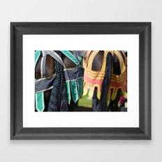 Jousting Horse - Braided Framed Art Print